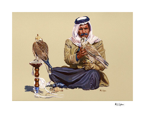 Abbas with his Falcons